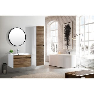 The Ivy Collection 30 Inch Floating Modern Bathroom Vanity