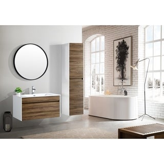 Shop The Ivy Collection 36 Inch Floating Modern Bathroom