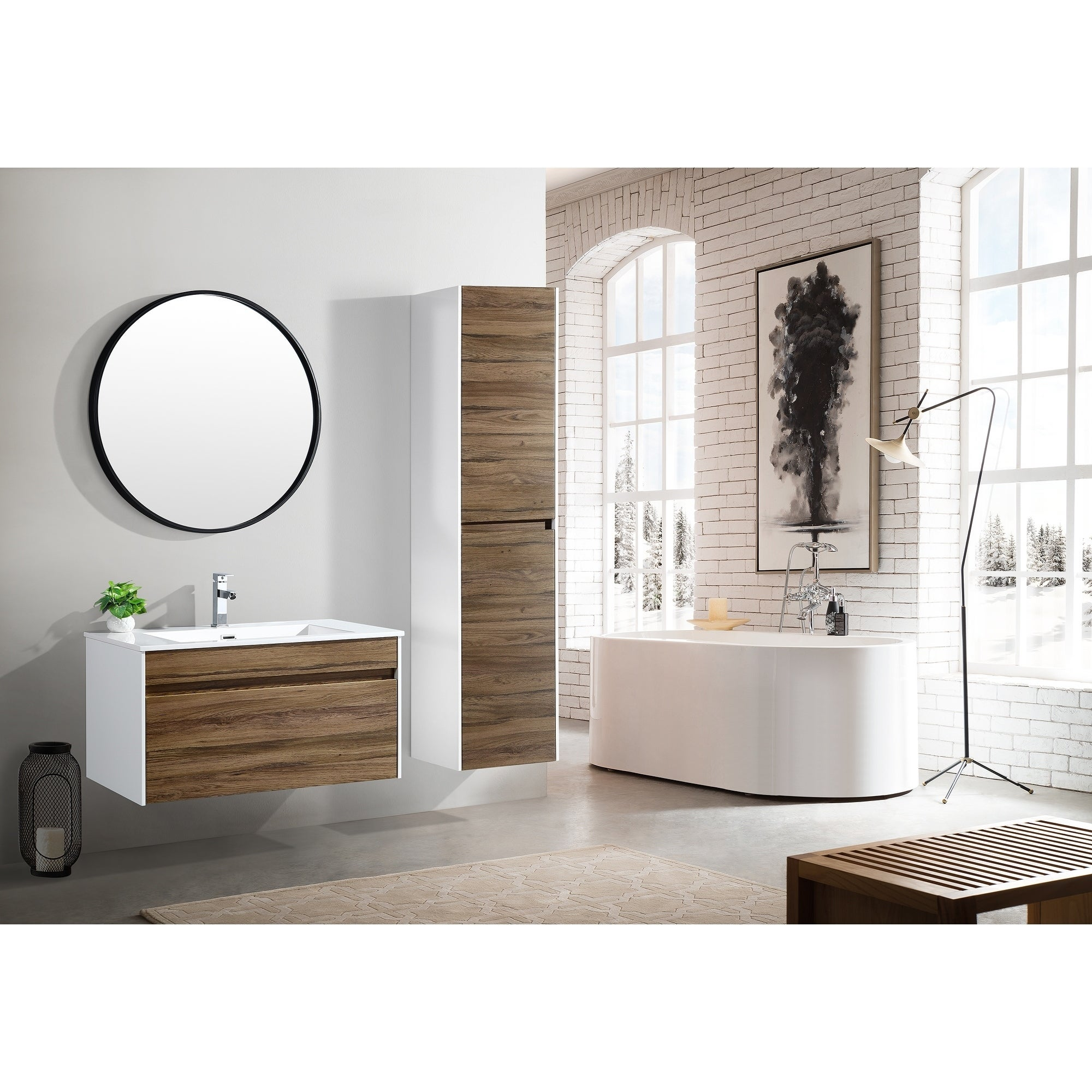 The Ivy Collection 36 Inch Floating Modern Bathroom Vanity Overstock 20979052