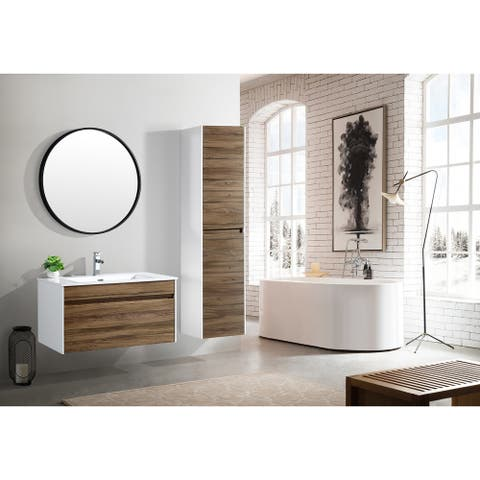The Ivy Collection 36 Inch Floating Modern Bathroom Vanity