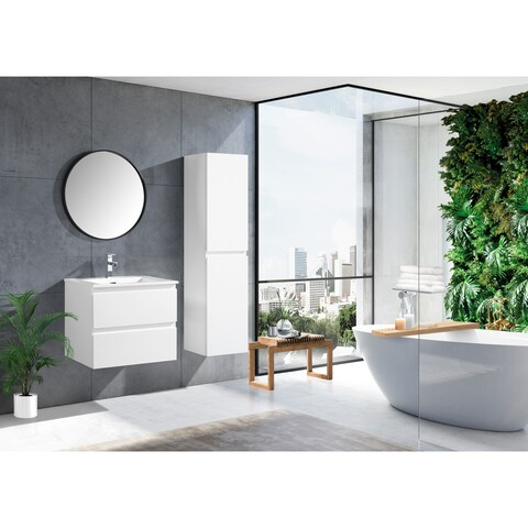 The Frost Collection 24 Inch Floating Modern Bathroom Vanity