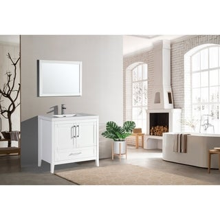 The Willow Collection 36 Inch Modern Bathroom Vanity