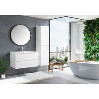 The Frost Collection 36 Inch Floating Modern Bathroom Vanity