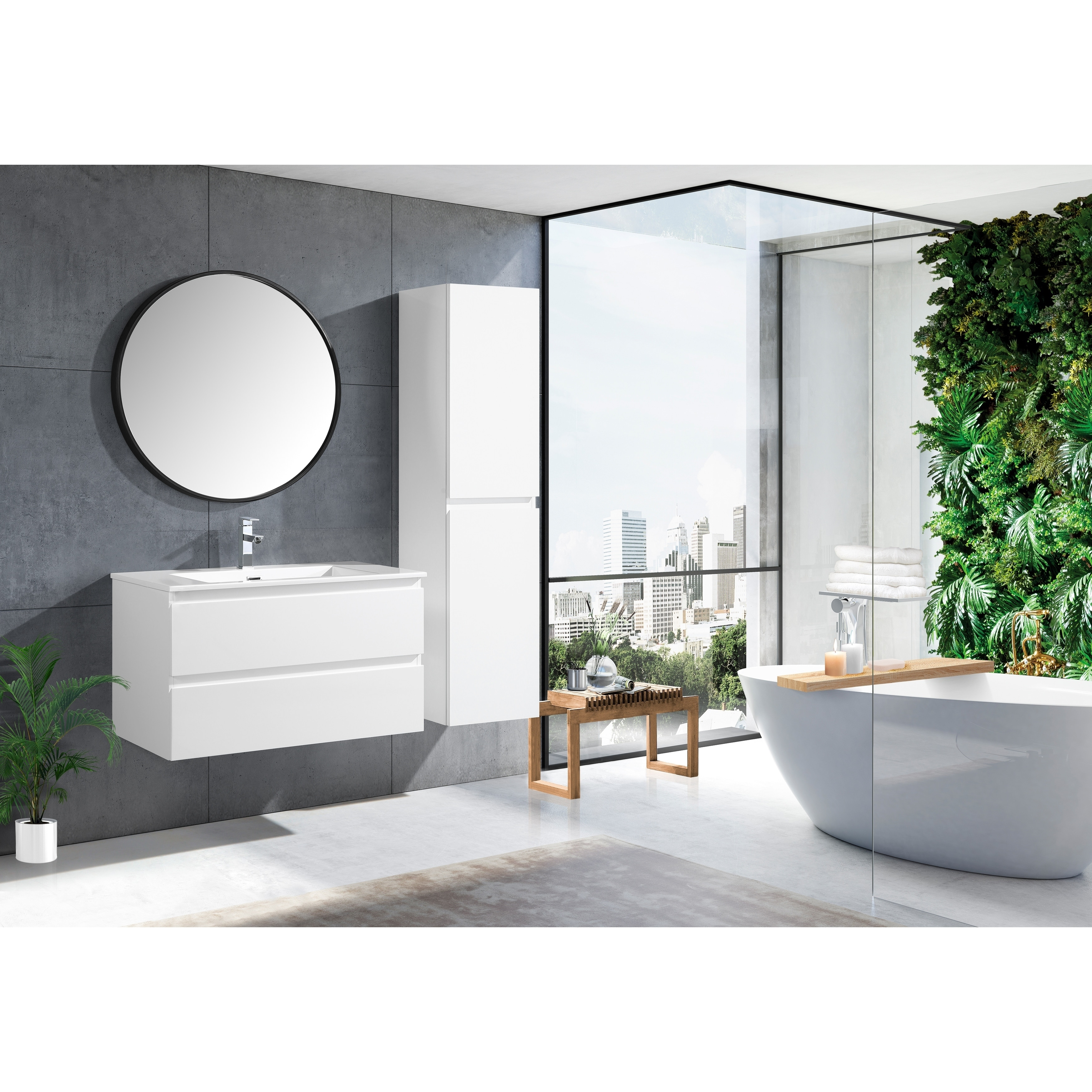 The Frost Collection 36 Inch Floating Modern Bathroom Vanity Overstock 20979057