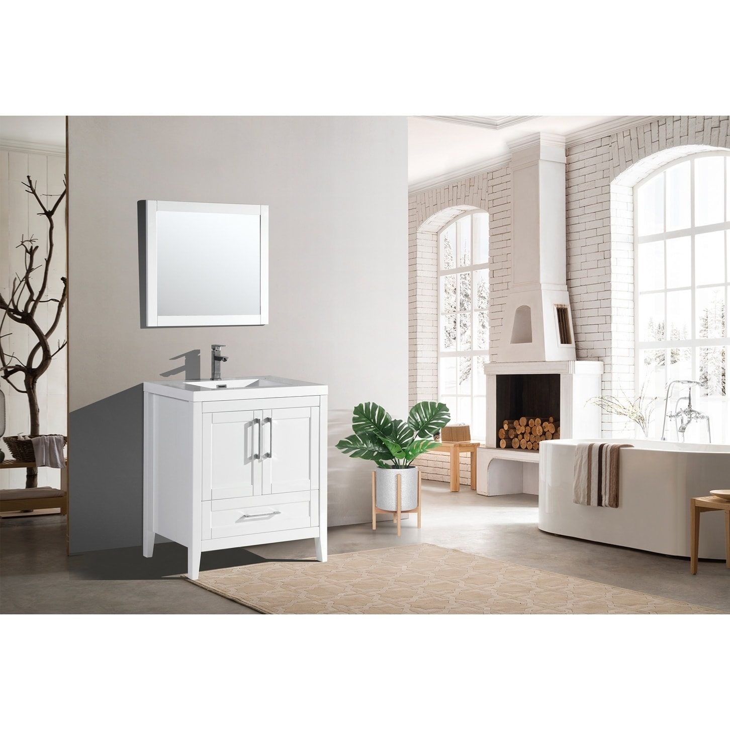 Shop The Willow Collection 30 Inch Modern Bathroom Vanity Overstock 20979058 Assembled Wood White Lacquer,Color Code Personality Test Green