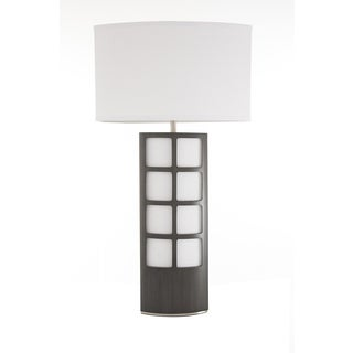 Ventana Table Lamp Charcoal Gray