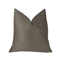Plutus Zurie Bliss Prussian Blue Luxury Throw Pillow