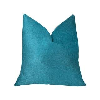 Plutus Aquamarine Velvet Turquoise Luxury Throw Pillow