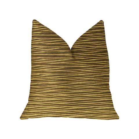 Plutus Valentina Textured Bronze Luxury Throw Pillow