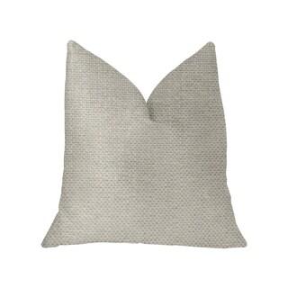 Plutus Sanctuary White Luxury Throw Pillow (More options available)