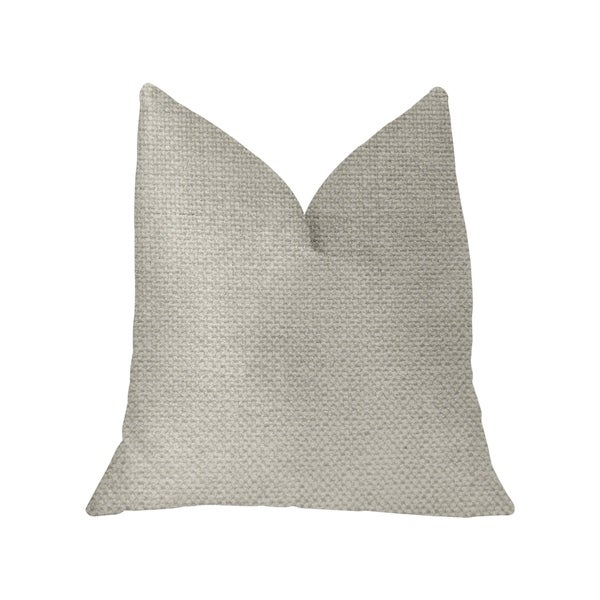 Plutus Sanctuary White Luxury Throw Pillow