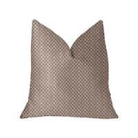 Plutus Ellie Pearl  Pink and Ivory Luxury Throw Pillow