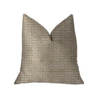 Plutus Emperor Gray and Beige Luxury Throw Pillow