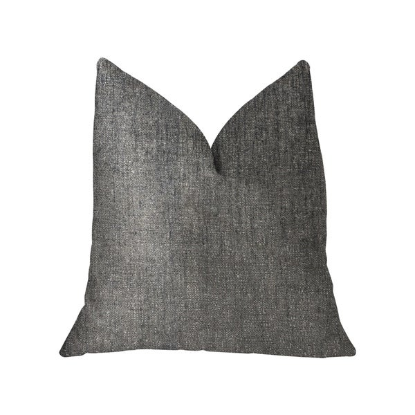 Plutus Cambridge Gray and Silver Luxury Throw Pillow