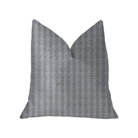 Plutus Napoleon Gray and Beige Luxury Throw Pillow