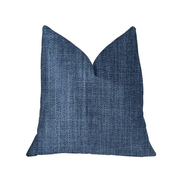 Plutus Blue Moon Blue Luxury Throw Pillow