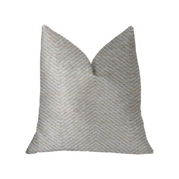 Plutus Plainville Beige Luxury Throw Pillow
