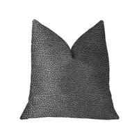 Plutus Eloquent Haze Silver Luxury Throw Pillow