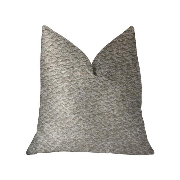 Plutus Crème Brulee Beige Luxury Throw Pillow