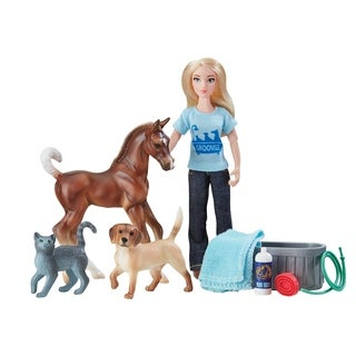 Breyer Classics Pet Groomer Horse & Figure Set