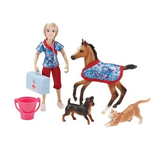 Breyer Classics Day at the Vet Horse & Figure Set
