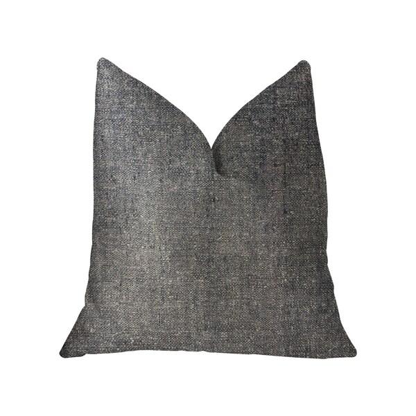 Plutus Deep Mantra Charcoal Luxury Throw Pillow