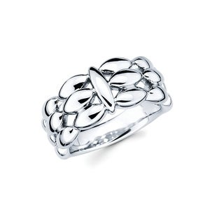 Sterling Silver Open Pattern Fashion Ring