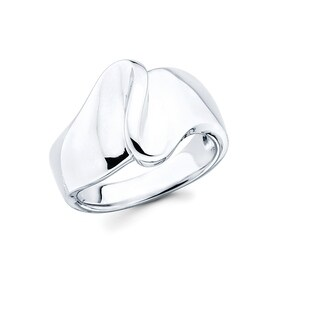 Sterling Silver Wave Fashion Ring