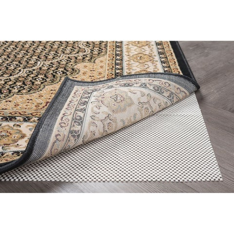 Alise Rugs Divine Grip Traditional Solid Runner Rug - Off-White - 3' x 8'