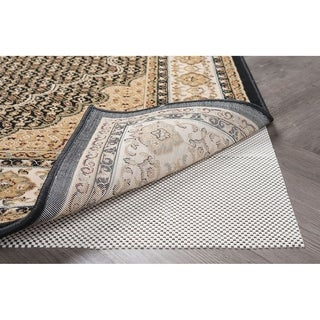 Alise Rugs Divine Grip Traditional Solid Round Area Rug - Off-White - 8'