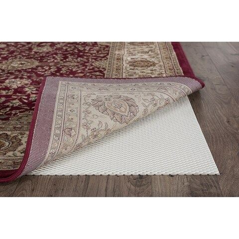 Alise Rugs Extreme Grip Traditional Solid Color Area Rug - Off-White - 7' X 10'