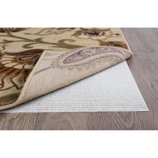 Alise Rugs Luxury Grip Traditional Solid Color Runner Rug - Off-White - 3' x 10'