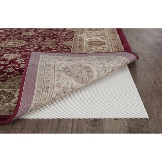Alise Rugs Extreme Grip Traditional Solid Color Round Area Rug - Off-White - 6'