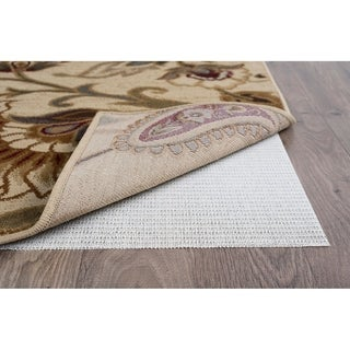 Alise Rugs Luxury Grip Traditional Solid Color Round Area Rug - Off-White - 8'