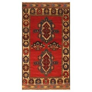 Handmade Balouchi Wool Rug (Afghanistan) - 3'10 x 7'
