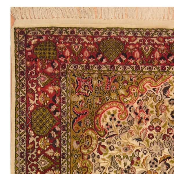 Kashmiri Wool And Silk Rug
