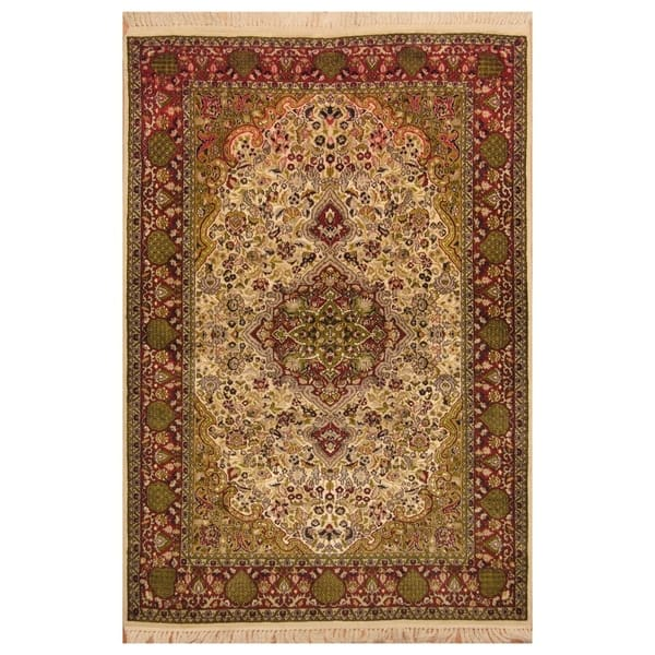 Kashmiri Wool And Silk Rug