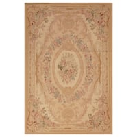 Handmade Herat Oriental Asian Hand-woven Aubusson Wool Rug  - 4' x 6' (China)