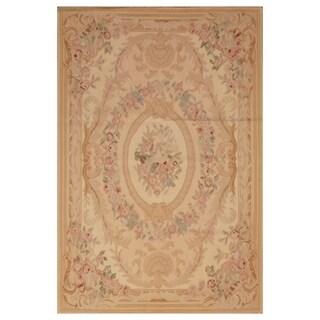 Handmade Herat Oriental Asian Hand-woven Aubusson Wool Rug (China) - 4' x 6'