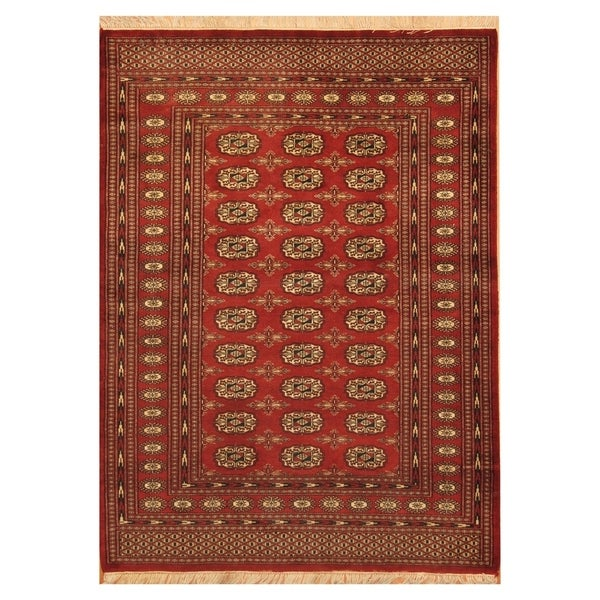Persian Bokhara Hand Knotted Wool Area Rug: Shop Handmade Herat Oriental Pakistani Hand-knotted Tribal