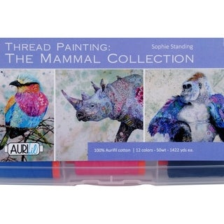 Sophie Standing's Thread Painting: The Mammal Collection - Aurifil cotton thread, 50wt, 12 lg spools