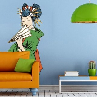 """Geisha Japan Full Color Wall Decal Sticker K-696 FRST Size 20""""x31"""""""