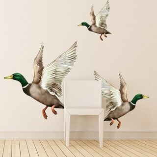 "Ducks Nature Wildlife Full Color Wall Decal Sticker K-778 FRST Size 20""x20"""