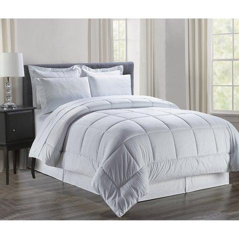 Elegant Comfort 8-Piece Bed-in-a-Bag Floral Comforter Set