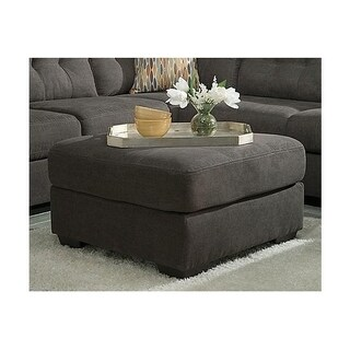 Benchcraft Delta City Contemporary Steel Oversized Accent Ottoman