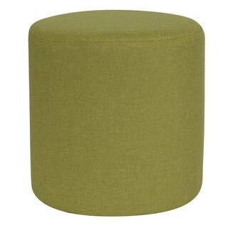 Toledo Green Fabric Upholstered Round Ottoman