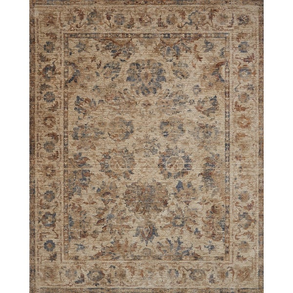 Traditional Antique Beige/ Multi Mosaic Floral Rug - 2' x 3'4
