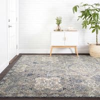 """Traditional Blue Moroccan Mosaic Rug - 9'6"""" x 12'6"""""""