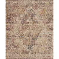 Traditional Antique Ivory/ Beige Distressed Moasic Rug - 2' x 3'4