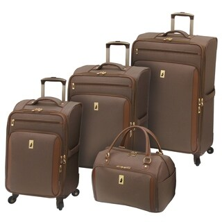 London Fog Kensington 4-piece Expandable Spinner Luggage Set (2 options available)